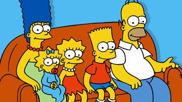 Simpsons naked on sofa